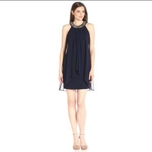 Vince Camuto lined jeweled collar dress size 2 NWT